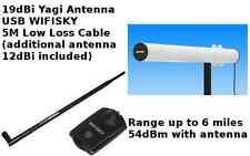 WiFi im freien 35dBm (54dBm) 3W Yagi Antenne 5M kabel SKY Verstärker USB 19dBi