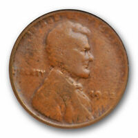 1922 No D 1C Lincoln Wheat Cent Strong Reverse ANACS VG 10 Very Good + Cer