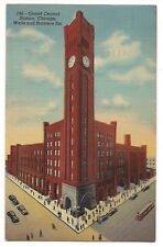GRAND CENTRAL STATION Wells Harrison CHICAGO Illinois Postcard IL Linen 1944