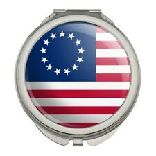 Betsy Ross 1776 American Flag Compact Travel Purse Handbag Makeup Mirror