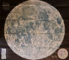 Rand McNally Map Of The Moon Vintage 41 X 37 Inch