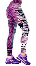 NFL New England Patriots Football Team Leggings Women's Fitness Yoga Gym Pink