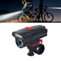 Bike Front Head Light 6 Modes AAA Battery Bicycle LED Lamp Cycling Flashlight