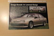 02277) Opel Omega A Lexmaul Prospekt 198?