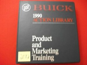FACTORY 1990 BUICK ACTION LIBRARY-PRODUCT & MARKETING TRAINING MANUAL & VIDEO