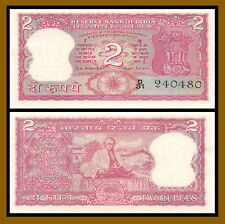 India 2 Rupees, 1970 P-67b Sig #77 Ghandi Unc with Pinholes