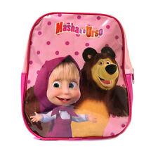 MASHA ET OURS sac à dos ecole maternelle fuchsia 27 cm avec lambeau palstificata