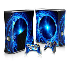 Full Cover Skin Sticker For XBOX 360 Slim Console + Free Controller Decal #268