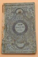 1848 Cock Robin Sequel Law Among the Birds and Sparrows Ball Rare Antique Book