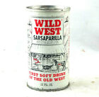 Wild West Sarsaparilla Beer Can Steel Vintage 1970's Bottom Opened Free Shipping