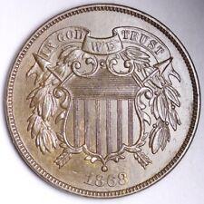 1868 Two Cent Piece CHOICE UNC FREE SHIPPING E156 KCTX