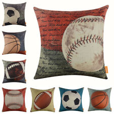 "Vintage Sports Football Cushion Cover Throw Pillow Case Boy Man Decor House 18"""