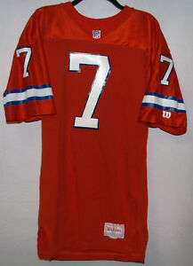 Authentic Wilson NFL Denver Broncos John Elway #7 42 LT Jersey Used Excellent Cd