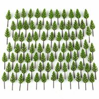 100pcs Pine Trees Model Deep Green For N Z Scale Building Street Layout 38mm AU