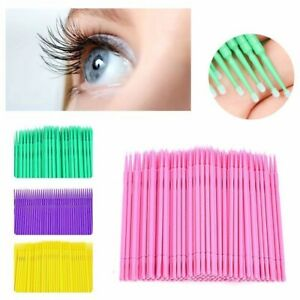 300/500pc Disposable Makeup Micro Eyelash Brush Swab Applicators Mascara Wand