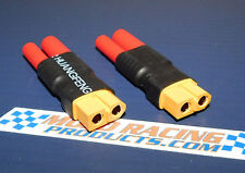 2X XT60 Female to HXT 4mm Zippy Turnigy Lipo Adapter No Wires Fast Ship Fr USA!