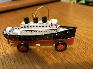 SCHYLLING SHIP TIN TOY ORNAMENT  1998