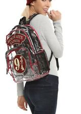 Harry Potter Hogwarts Express 9 3/4 Clear Camp Backpack School Book Bag NWT!