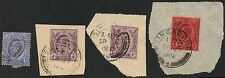 MALAYA STRAITS SETTLEMENTS KE7 PERFINS on PIECE 4 ITEMS