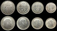 More details for edward vii 1902 full maundy set - fourpence, threepence, twopence, penny