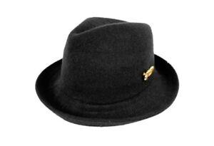 Kangol X SSUR  Black Wool Trilby Fedora Hat NWOT Small