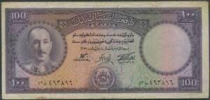 Afghanistan 100 Afghani Banknote, Kg Md. Zahir Sha,1967