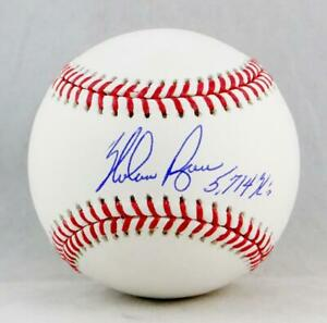 Nolan Ryan Autographed Rawlings OML Baseball With 5714 K's - AIV Hologram *Blue