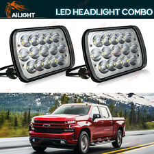 """7x6"""" Rectangle LED Headlights Sealed Beam Lamps Replace For Chevy Pickup Truck"""