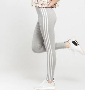 Adidas Classic 3 Stripes Women's Leggings Grey CY4761
