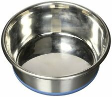 (2 Pack) OurPets Durapet NO SKID Stainless Steel Food & Water DOG Bowl 1.2 Pint