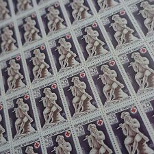 FEUILLE SHEET TIMBRE CROIX ROUGE RED CROSS N°1540 x50 1967 NEUF ** LUXE MNH