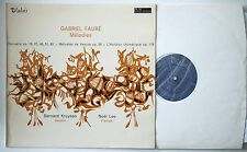 FAURE Melodies KRUYSEN/LEE Valois MB 765 French LP Stereo