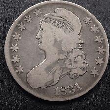 Estados unidos 1831 capped Bust half dólares 50 centavos filadelfia plata raramente 1820