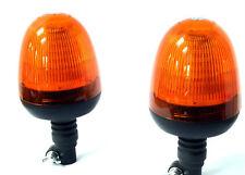 TWO LED Beacon Amber DIN/Pole Mount 12/24v + 2 FREE DIN/POLE ADAPTOR-UK SUPPLIER