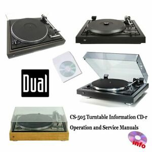 Dual CS-505 turntable record player service instruction owner manuals cd-r