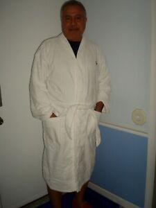 POLO RALPH-LAUREN PLUSH - VELOUR WHITE BATHROBE