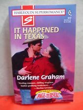 Superromance: It Happened in Texas No. 812 by Darlene Graham (1998, PB) B0246