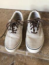 Men's Size 7.5 Sperry Topsiders Linen Sneaker beige