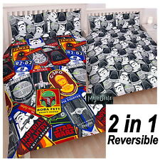 STAR WARS CLASSIC PATCH DOUBLE DUVET COVER SET BOYS - STORMTROOPERS DARTH VADER