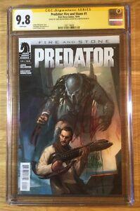 Predator 1, Fire and Stone, CGC 9.8 2X SS, signed Williamson & Mooneyham