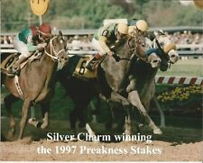 "1997 - SILVER CHARM winning the Preakness Stakes - Color Close Up - 10"" x 8"""
