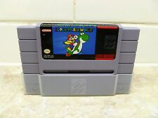 "Nintendo SNES  ""SUPER MARIO WORLD"" Game Cartridge (NEW)"