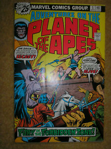 ADVENTURES ON THE PLANET OF THE APES # 5 25c 1976 BRONZE AGE MARVEL COMIC BOOK