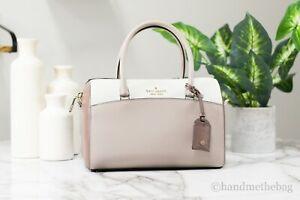 Kate Spade Devyn Medium Leather Neutral Multi Crossbody Duffel Bag Handbag