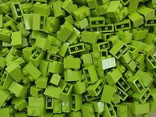 20 x Lego Brand New 1 x 2 Lime Green Brick Bricks Part Number 3004 Add On Item