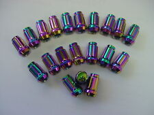 HARLEQUIN finish Tuner Wheel Nuts 20pcs  Suit most cars