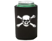 6 Lot Skull and Bones 2 Pirate Beer Soda Pop Can Cozy Koolie Cooler Insulator