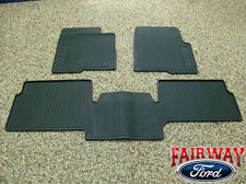 10 thru 14 Ford F-150 Raptor SVT OEM Black Rubber Floor Mat 3-pc Super Cab