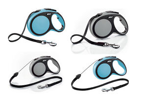 Flexi Comfort Retractable Tape Cord Lead Dog Puppy Lead 6 Sizes Blue or Grey