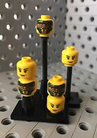 Lego Heads Minifigure Body Part Double Sided Face New Lot Of 6